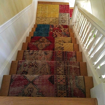 Custom Stair Runner by Healdsburg Floor Coverings